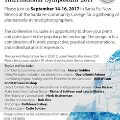 2017 Alternative Photographic International Symposium (APIS)